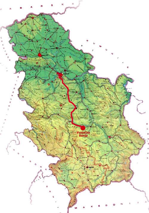 Mapa Srbije Vrnjacka Banja Superjoden